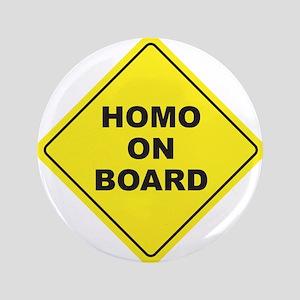 """Homo on Board 3.5"""" Button"""