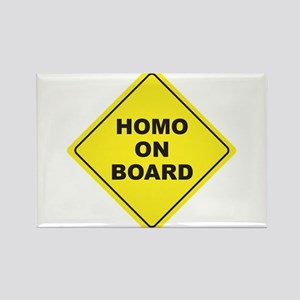 Homo on Board Rectangle Magnet