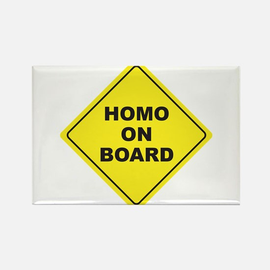 Homo on Board Rectangle Magnet