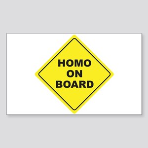 Homo on Board Rectangle Sticker