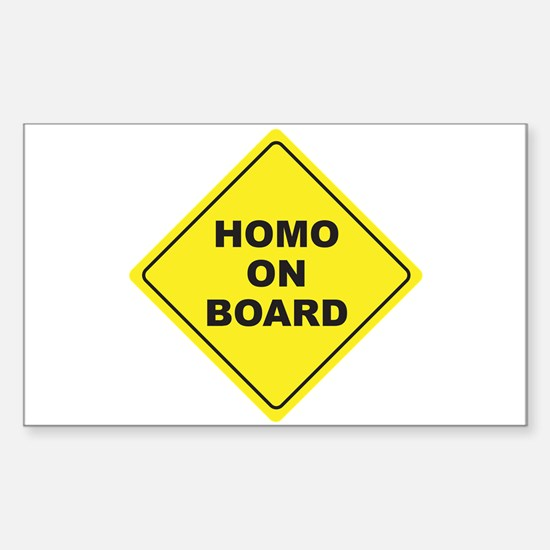 Homo on Board Rectangle Decal