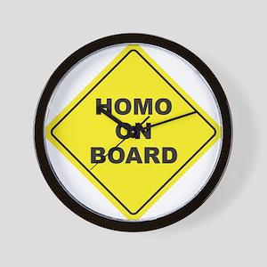 Homo on Board Wall Clock