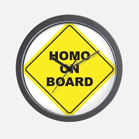 Homo on Board Wall Clock