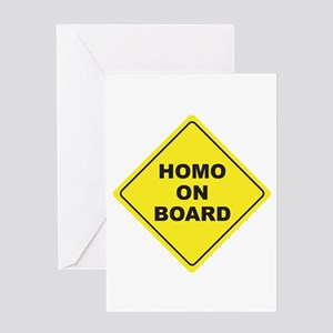 Homo on Board Greeting Card