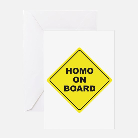 Homo on Board Greeting Card