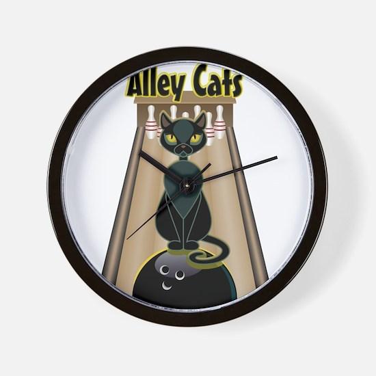 Cute Alley cats Wall Clock