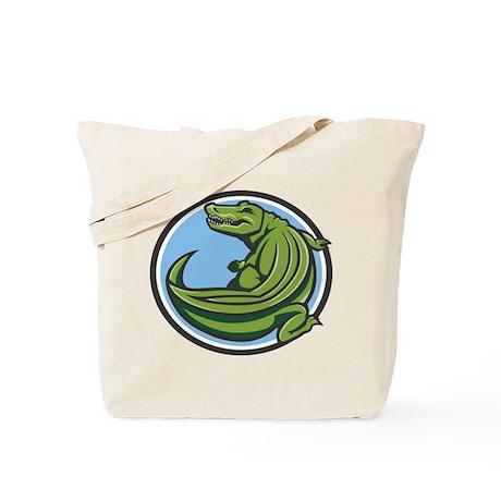 Crocodile Logo Tote Bag