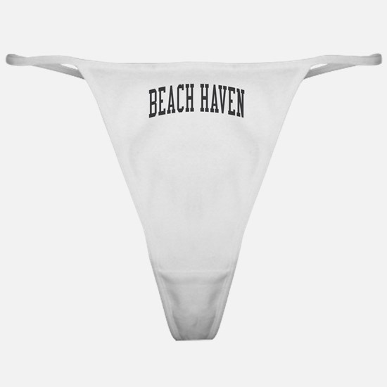 Beach Haven New Jersey NJ Black Classic Thong