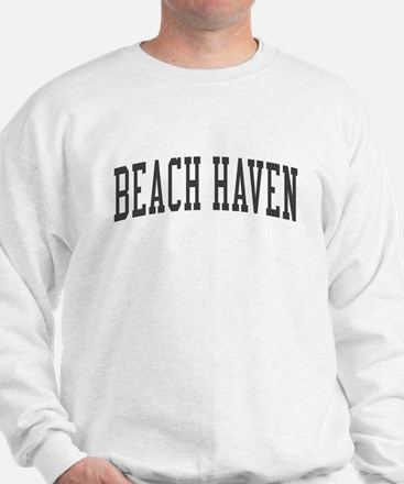Beach Haven New Jersey NJ Black Sweatshirt