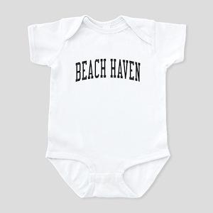 Beach Haven New Jersey NJ Black Infant Bodysuit