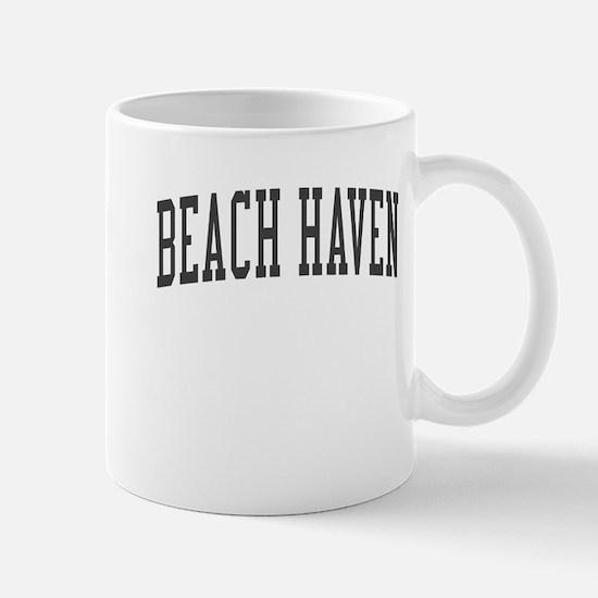 Beach Haven New Jersey NJ Black Mug