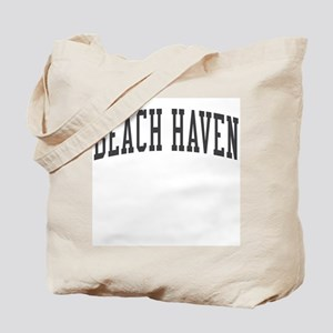 Beach Haven New Jersey NJ Black Tote Bag