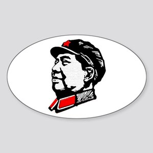 Chairman Mao Oval Sticker