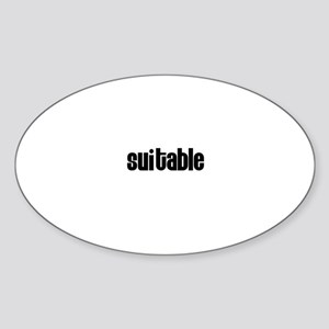 Suitable Oval Sticker