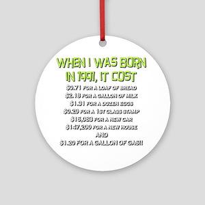 Price Check 1991 Ornament (Round)
