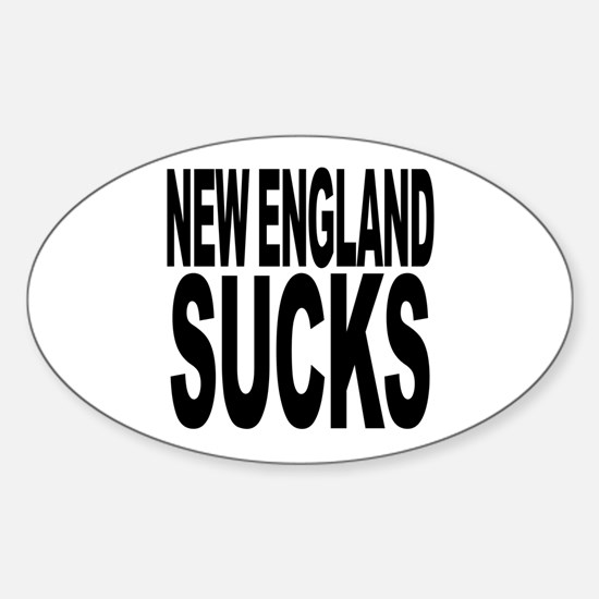 New England Sucks Oval Decal