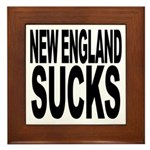 New England Sucks Framed Tile