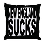 New England Sucks Throw Pillow