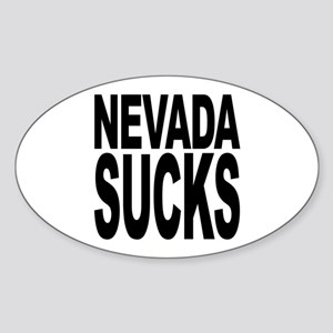 Nevada Sucks Oval Sticker