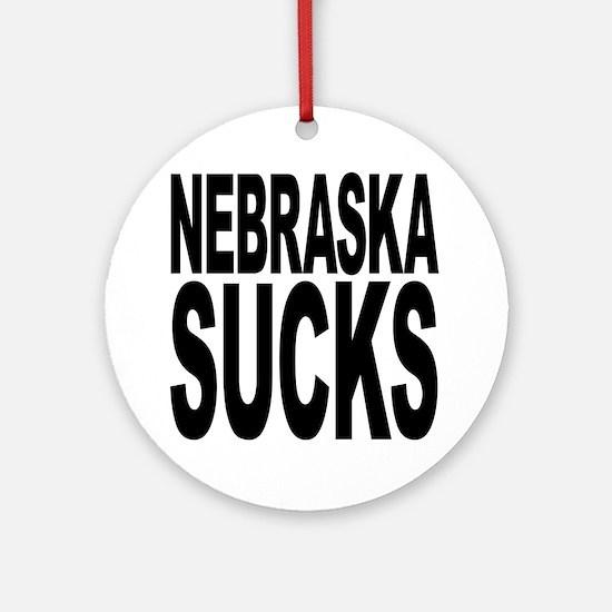 Nebraska Sucks Ornament (Round)