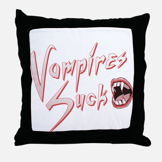 Vampires Suck Throw Pillow