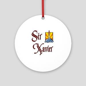 Sir Xavier Ornament (Round)
