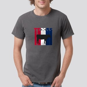 Texas Cattle in Red White & Blue T-Shirt
