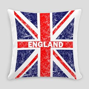 Distressed Union Jack England Flag Everyday Pillow