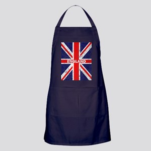 Distressed Union Jack England Flag Br Apron (dark)