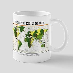 World Time Zone Map Mug