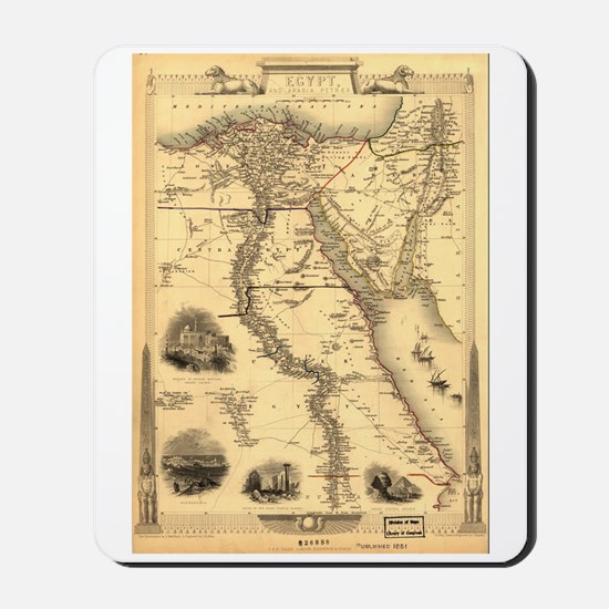 Ancient Egypt Map Mousepad