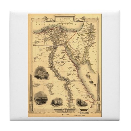 Ancient Egypt Map Tile Coaster