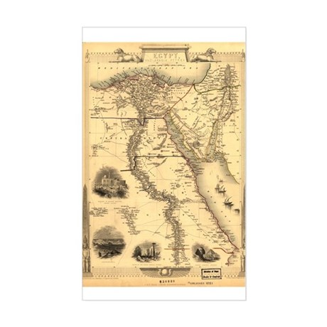 Ancient Egypt Map Rectangle Sticker