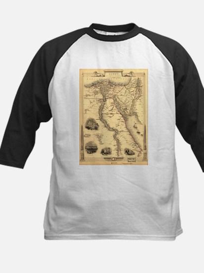 Ancient Egypt Map Kids Baseball Jersey