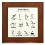 Sexual Positions Framed Tile