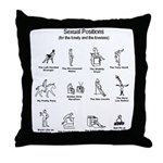 Sexual Positions Throw Pillow