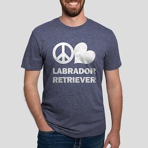 Peace Love Labrador Retriever Women's Dark T-Shirt