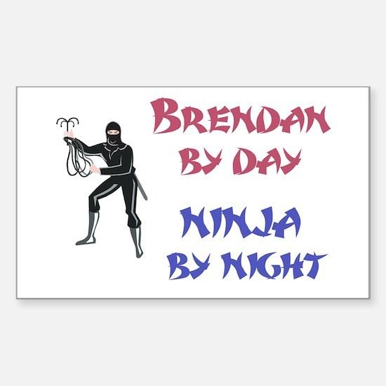 Brendan - Ninja by Night Rectangle Decal