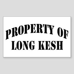"""Property of Long Kesh"" Rectangle Sticker"