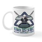 Human Test Subject spray plane Mug