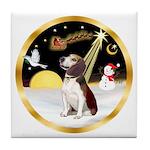 Night Flight/Beagle #2 Tile Coaster