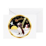 Night Flight/Beagle #2 Greeting Cards (Pk of 20)