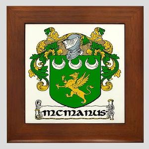McManus Coat of Arms Framed Tile