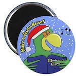 Joyful Noise Christmas Parrot Magnet