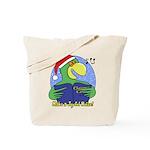 Joyful Noise Christmas Parrot Tote Bag