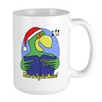 Joyful Noise Christmas Parrot Large Mug