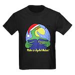 Joyful Noise Christmas Parrot Kids Dark T-Shirt