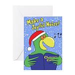 Joyful Noise Parrot Christmas Card (Single)