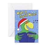 Joyful Noise Parrot Christmas Cards (20 Pack)