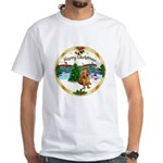 XmasMusic1MC/Dachshund #13 White T-Shirt